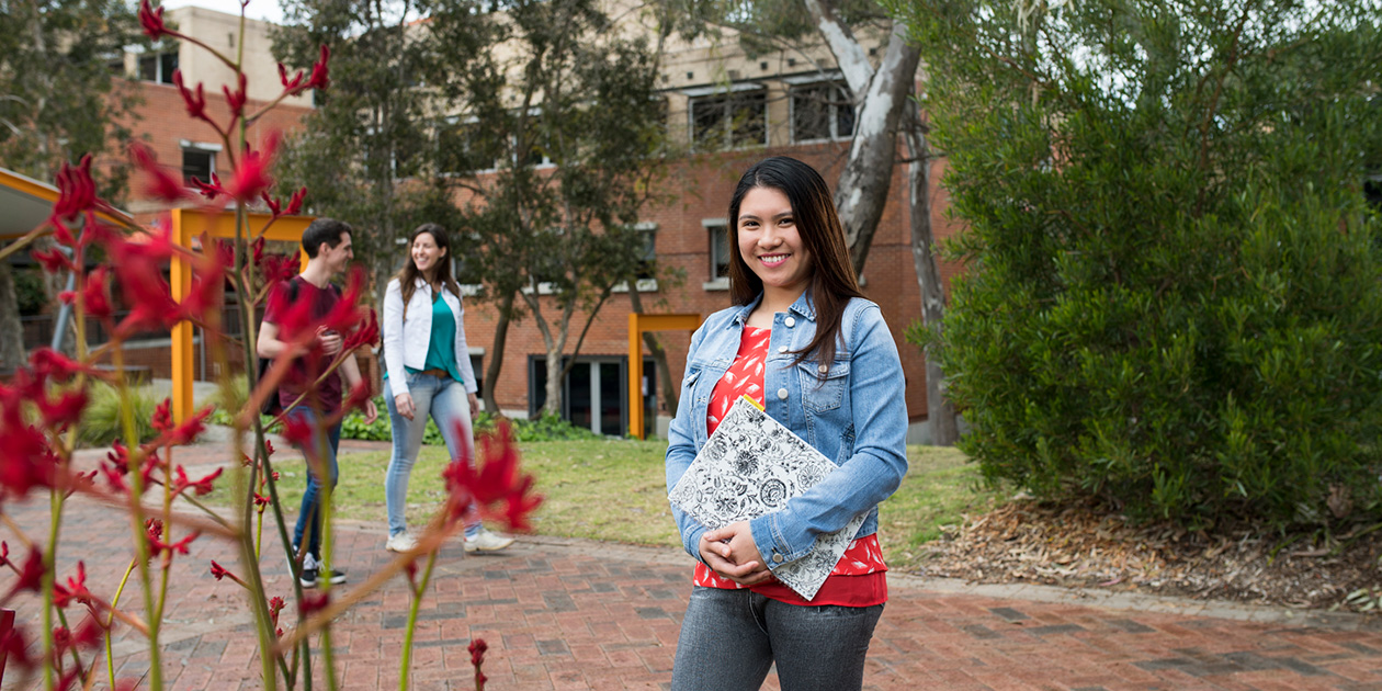 Young woman on Curtin Perth campus